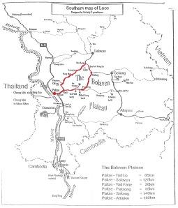 Karte Bolaven-Plateau